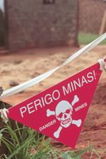 Warning about land mines